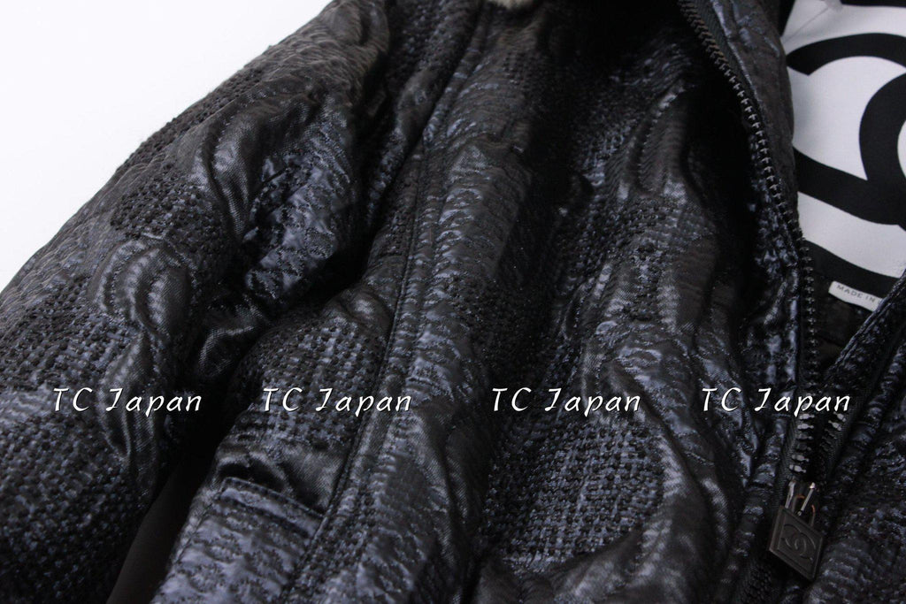 CHANEL 08PF $5K PARIS LONDON Brocade & Orylag Fur Jacket Coat 36 38 シャネル ファー・ジャケット・コート 即発 - シャネル TC JAPAN