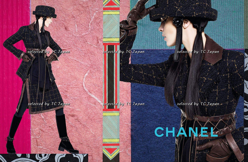 CHANEL 16A Black Leather Trim Tweed Jacket Skirt Suit 34 38 シャネル レザートリム・ジャケット - シャネル TC JAPAN