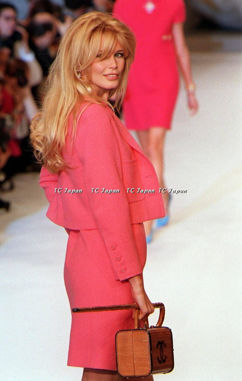 CHANEL 96C Amber Valletta Coral Skirt Suit F38 シャネル スカート スーツ - シャネル TC JAPAN
