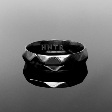HNTR Geometric Totem Ring - Black