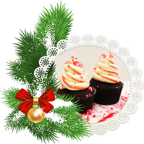 Christmas Candy Cane Cupcakes