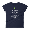 Damen Keep Calm Urban Gardening Kurzarm T-Shirt