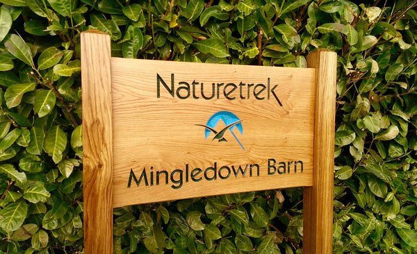 Naturetrek Ladder Sign With Logo