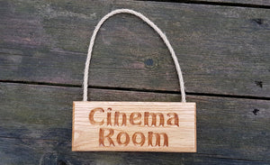 Beautifully Crafted Personalisable Solid Oak Engraved Hanging Sign - Bramble Signs Engraved Wall Mounted & Freestanding Oak House Signs, Plaques, Nameplates and Wooden Gifts
