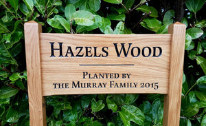 Medium Ladder Sign Hezels wood memorial sign