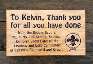 Memorial & Commemorative Plaques - Large - 380 x 220mm - Bramble Signs Engraved Wall Mounted & Freestanding Oak House Signs, Plaques, Nameplates and Wooden Gifts