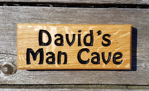 Dinky House Sign davids man cave FONT: HOBO