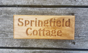 Dinky House Sign springfield cottage FONT: HOBO