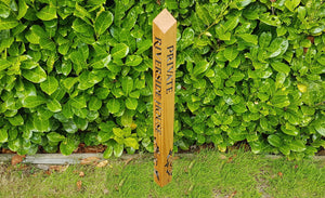 Floral Design Bollard Post Made From Solid Oak