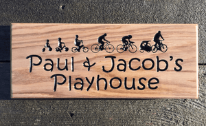 Paul & Jacobs Playhouse House Sign Biking Artwork