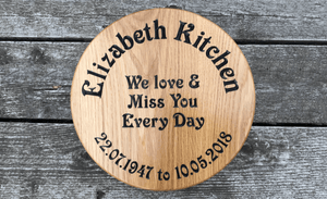 Elizabeth Kitchen Memorial 300x300 Circular Plaque