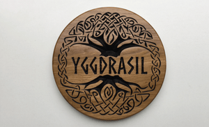 Yggdrasil Mythical Tree 300x300 Large Circular Sign