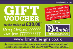 Gift Voucher for Bramble Signs & Designs