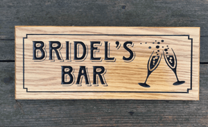 Bridels Bar 380x150 Pub Shed Drink Sign