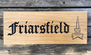 Traditional Wooden House Sign made from prime grade oak