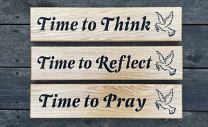 500x110mm prayer signs for churches or religious groups