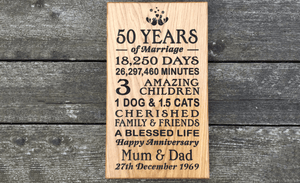 500 x 220 Wedding Anniversary House Sign