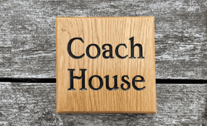 Coach House Classic Vintage Wooden House Sign