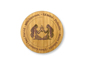 Gemini Star Sign Drinks Coasters