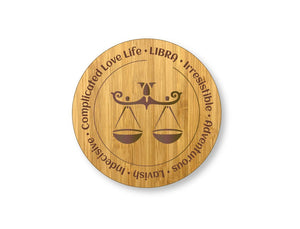 Libra Star Sign Drinks Coasters