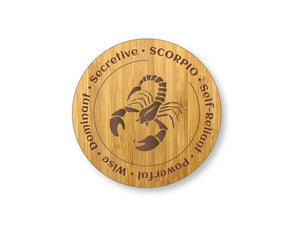 Scorpion Star Sign Drinks Coasters