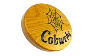 Cobwebs side on Solid Oak Oval House Sign