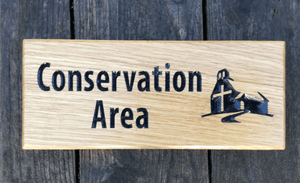 Conservation Area Church sign