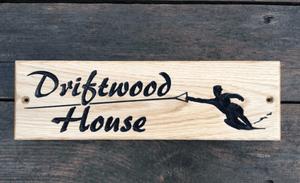 Driftwood House Water Ski 380x110 House Sign