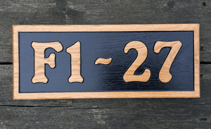 F1-27 380x150 Reverse Engraved House Number Sign