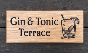 Gin and Tonic Terrace Drinking Bar 265 x 110