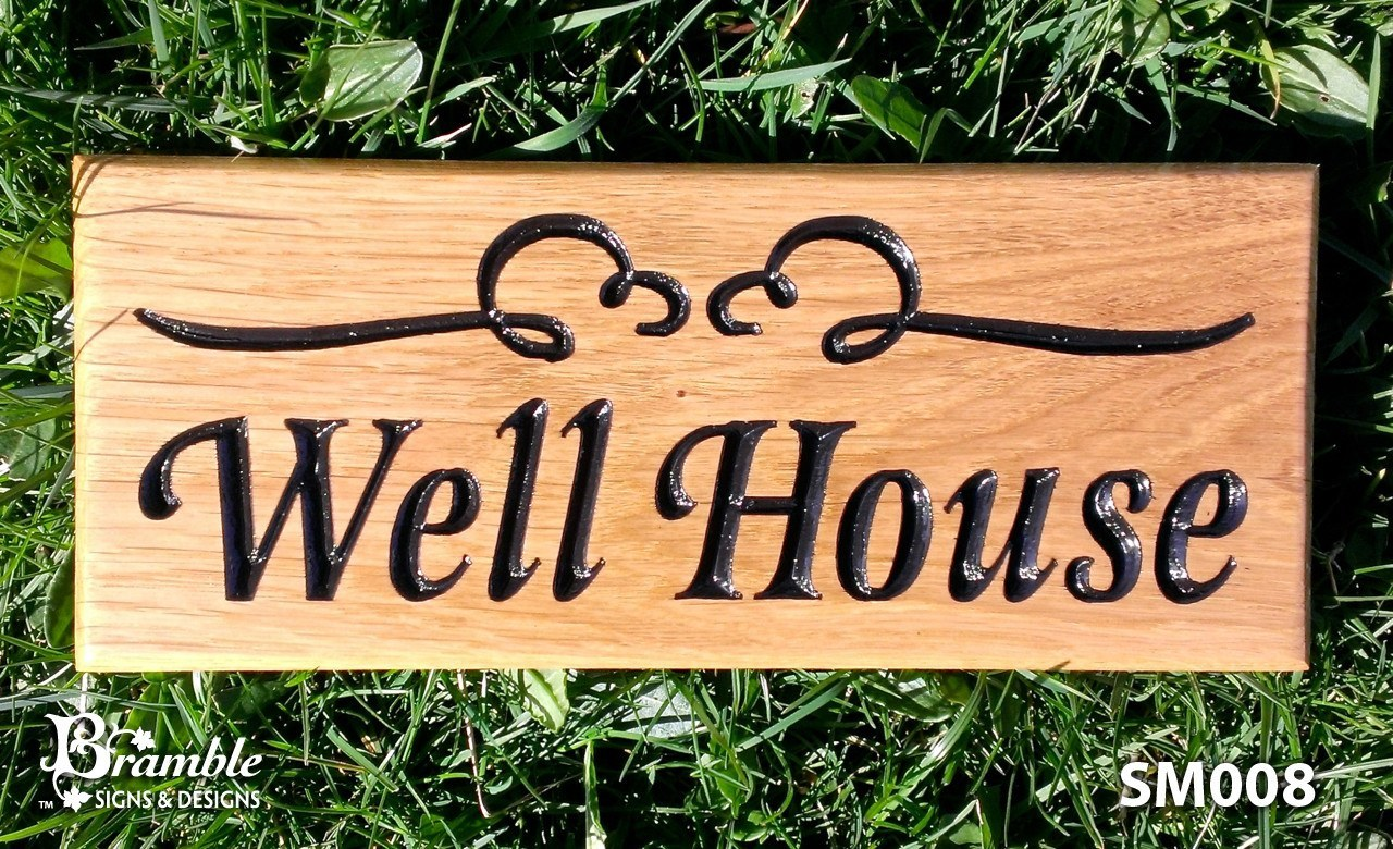 House sign small 265 x 110mm bramble signs for Classic house name plates
