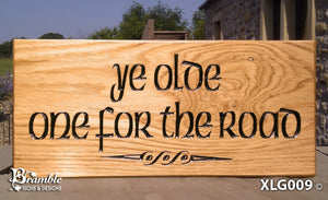 House Sign - Extra Large - 500 x 220mm - Bramble Signs Engraved Wall Mounted & Freestanding Oak House Signs, Plaques, Nameplates and Wooden Gifts