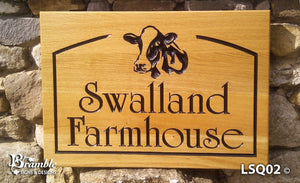 HOUSE SIGNS - LARGE SQUARE - 500 x 400mm - Bramble Signs Oak House Signs and Wooden Gifts