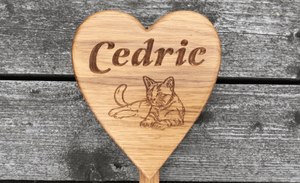 Cedric Memorial Heart and Stake for Rememberance