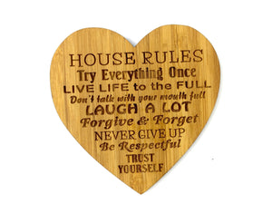 Heart Shaped Coaster house Rules