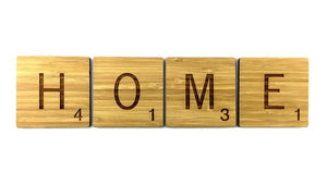 HOME scrabble tiles Perfect for wall art in family homes or living rooms