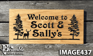 Welcome to Scott And Sallys Cottage 265x110 House Sign Plaque