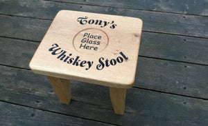 Whiskey Stool made from Solid Oak