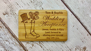 Wellington Wellies RSVP Wedding Acceptance