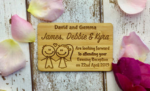 Couple Holding Hand Wedding Acceptance RSVP