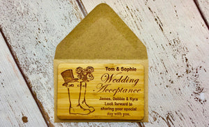 Wedding Acceptance in Recycled Manilla Envelope