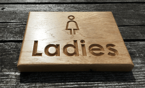 Toilet Signs for Women Or Ladies, Hospitality Signs, Restrooms