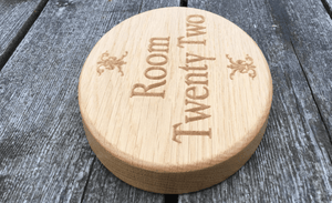 Room Twenty Two Solid Oak Sign in a beautiful Oval Shape