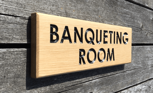 380x110mm Long & Thin Hospitality Sign