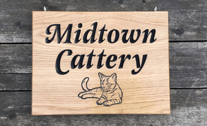 Midtown cattery 400x300 House Sign