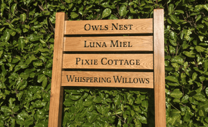 Multi Rung Ladder Sign 720 x 110mm - Posts 70 x 70 x 1520mm