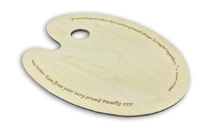Wooden Laser Engraved Artists Palette Perfect Gift for painters