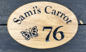 Samis carrot 76 Number House Sign