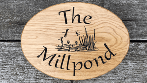 The Millpond pond house sign design