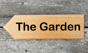 The Garden Sign pointing towards the Left